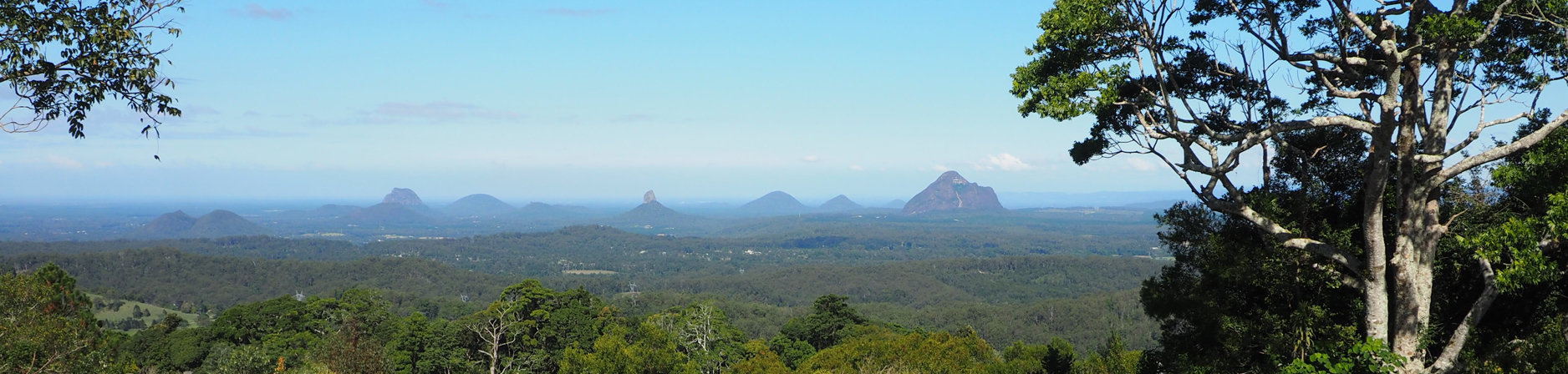 view of Glass House Mountains