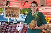 Palmwoods food grower selling local produce at market