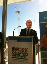 Mayor Mark Jamieson at The Work Shop offical launch