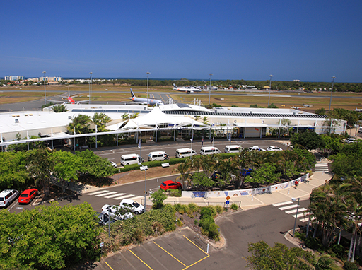 Aerial photograph of Sunshine Coast Airport