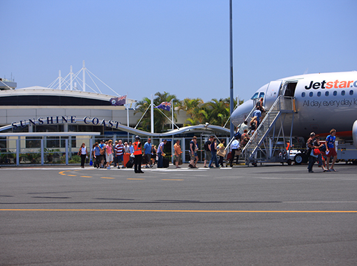sunshine coast airport, jetstar, fly to adelaide