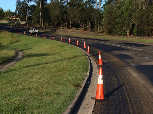 Resurfacing work underway on Dixon Road, Buderim