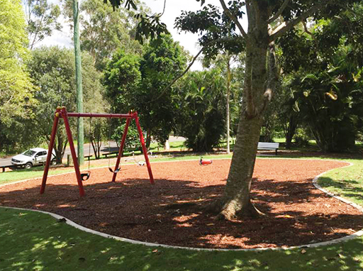 Playground at Sir Francis Nicklin Park in Palmwoods